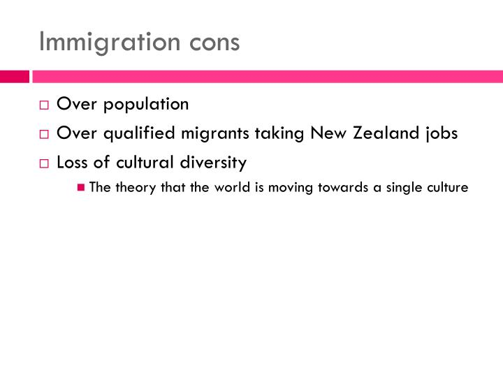 Immigration cons