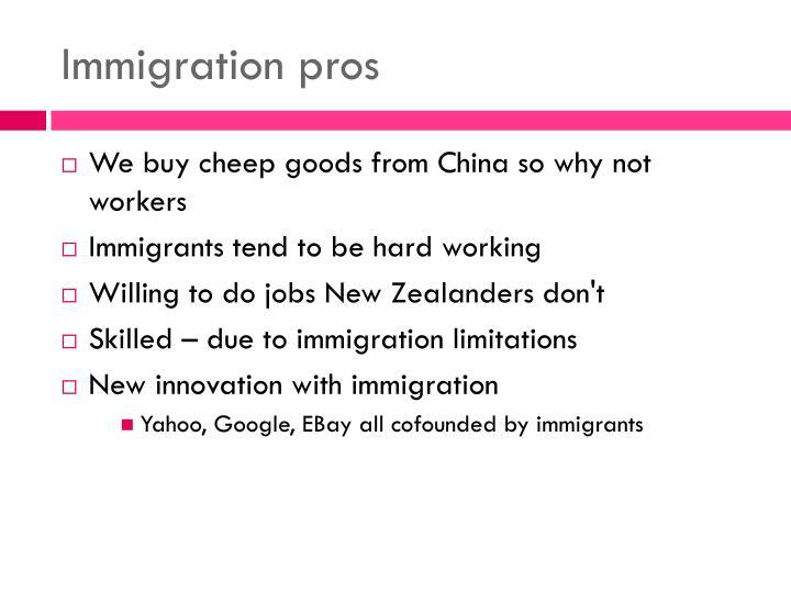 Immigration pros