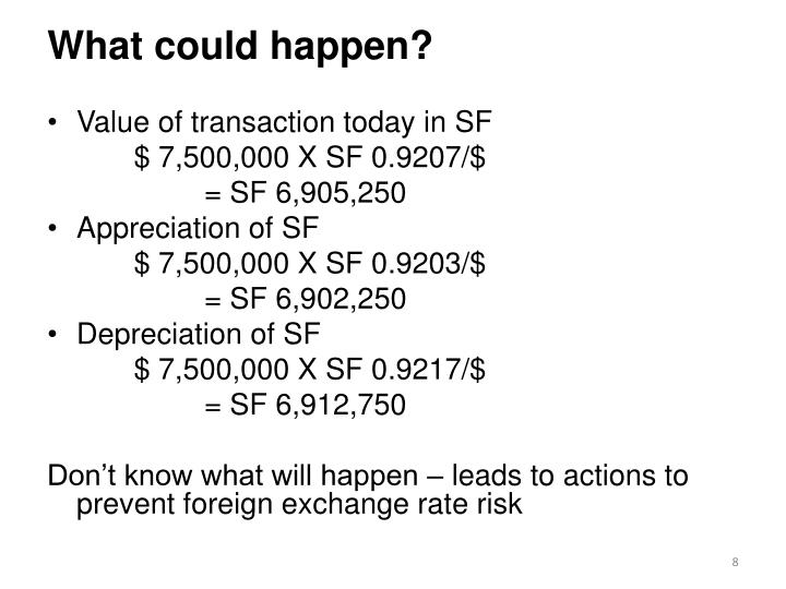What could happen?