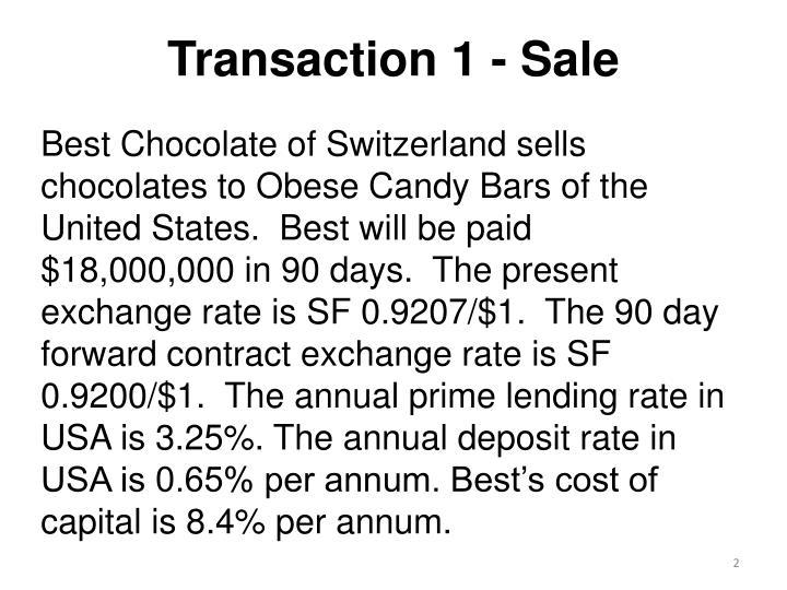 Transaction 1 - Sale