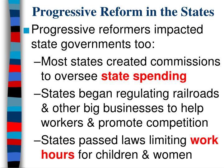Progressive Reform in the States