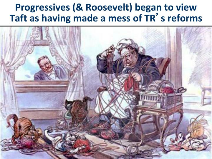 Progressives (& Roosevelt) began to view