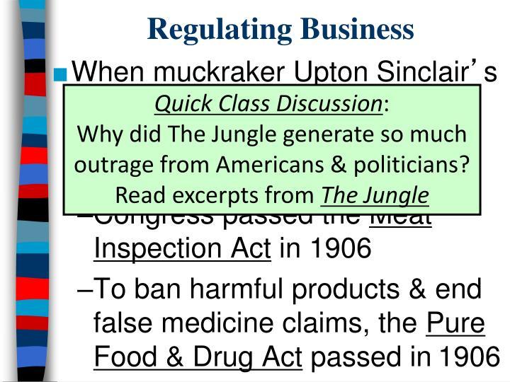 Regulating Business