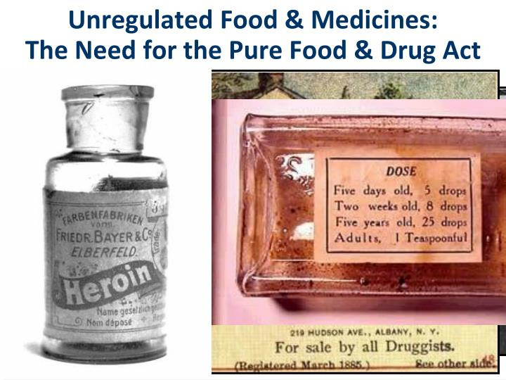 Unregulated Food & Medicines: