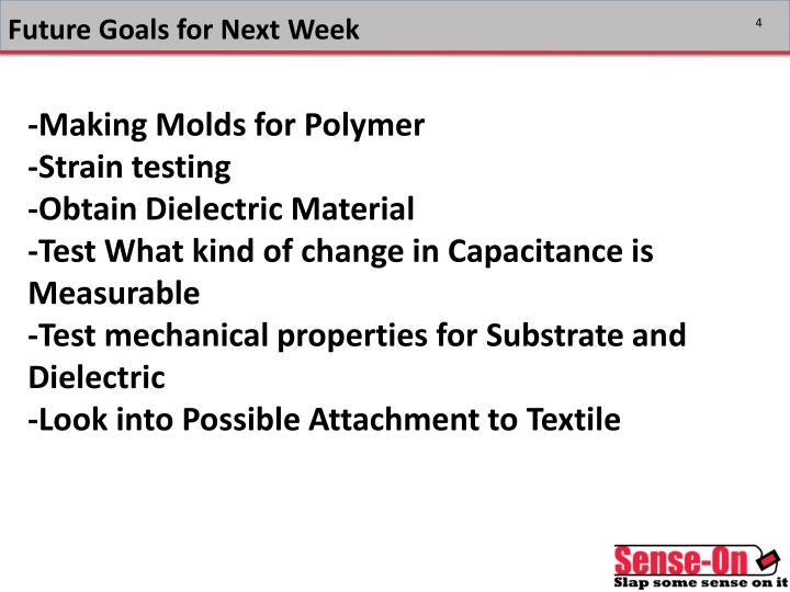 Future Goals for Next Week