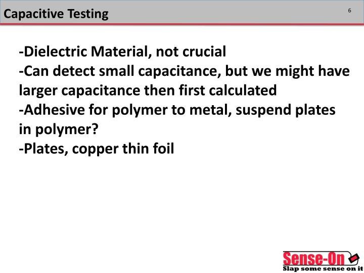 Capacitive Testing