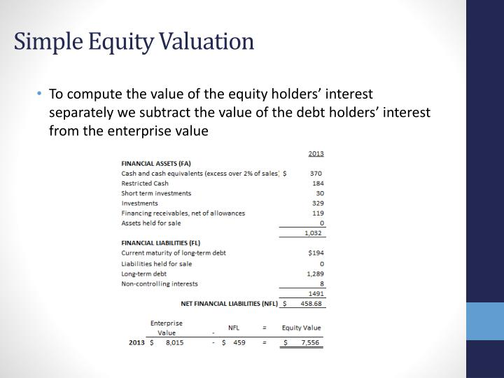 Simple Equity Valuation