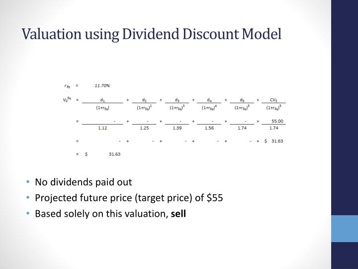 Valuation using Dividend Discount Model
