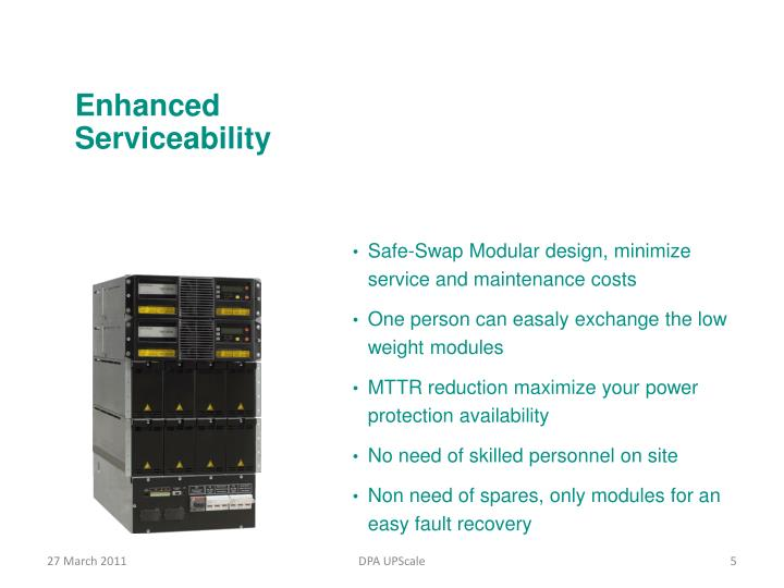 Enhanced Serviceability