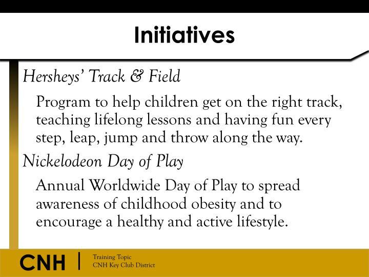 Initiatives