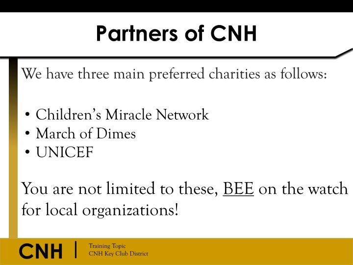 Partners of CNH
