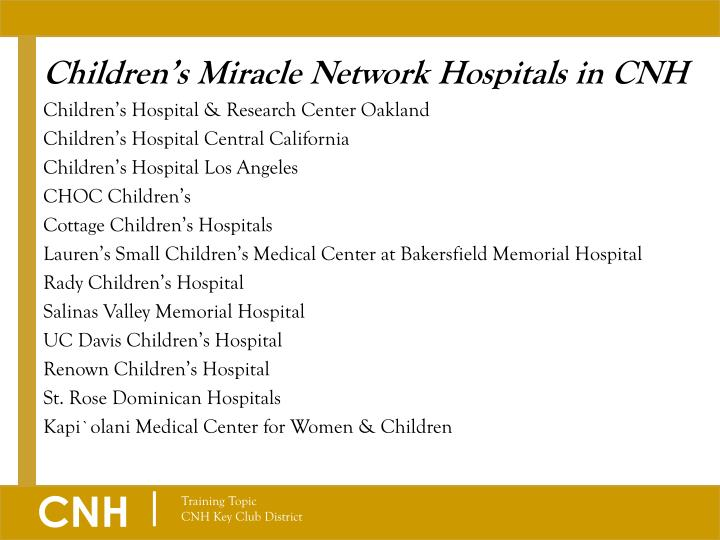 Children's Miracle Network Hospitals in CNH