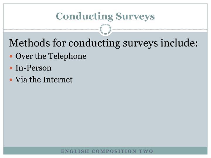 Conducting Surveys