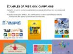 examples of aust gov campaigns