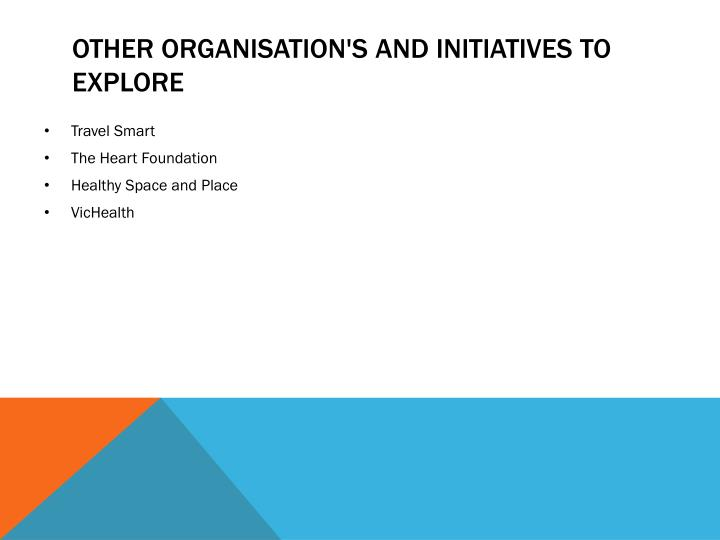 Other organisation's and initiatives to Explore