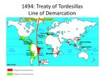 1494 treaty of tordesillas line of demarcation
