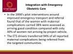 integration with emergency obstetric care2