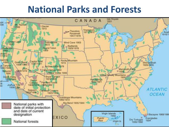 National Parks and Forests