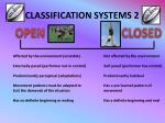 classification systems 2