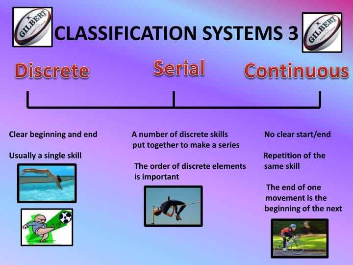 CLASSIFICATION SYSTEMS 3