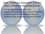 dept of defense dependent schools dept of defense education activity