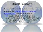 fulbright exchanges