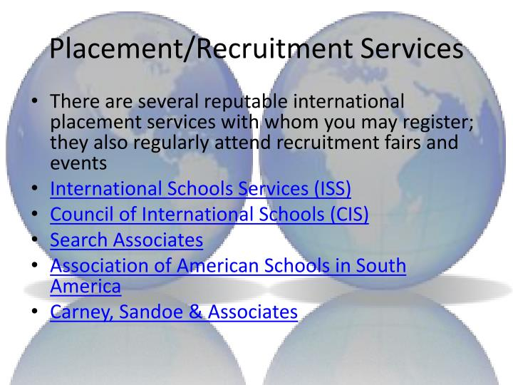 Placement/Recruitment Services
