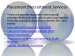 placement recruitment services