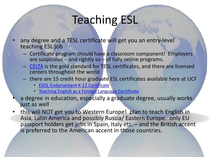 Teaching ESL
