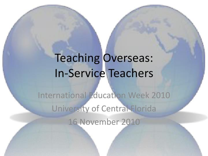 Teaching Overseas: