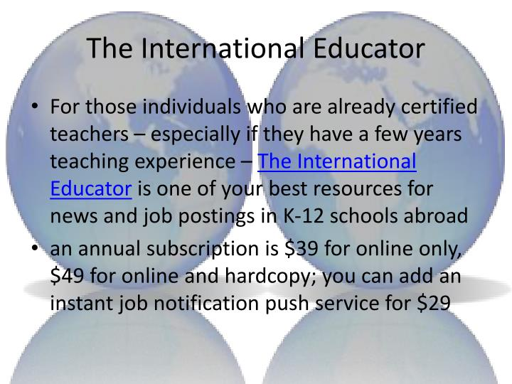 The International Educator