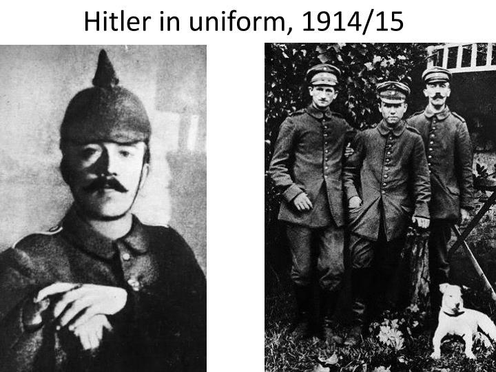 Hitler in uniform, 1914/15