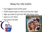 relay f or life caitlin