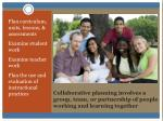 collaborative planning involves a group team or partnership of people working and learning together