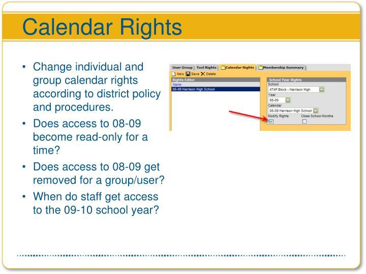 Calendar Rights
