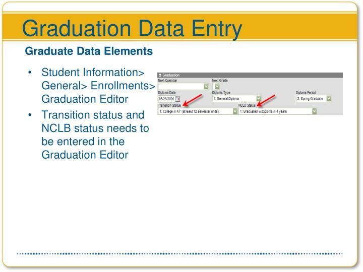 Graduation Data Entry