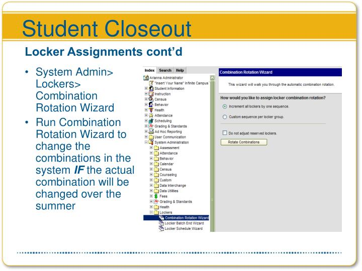 Student Closeout