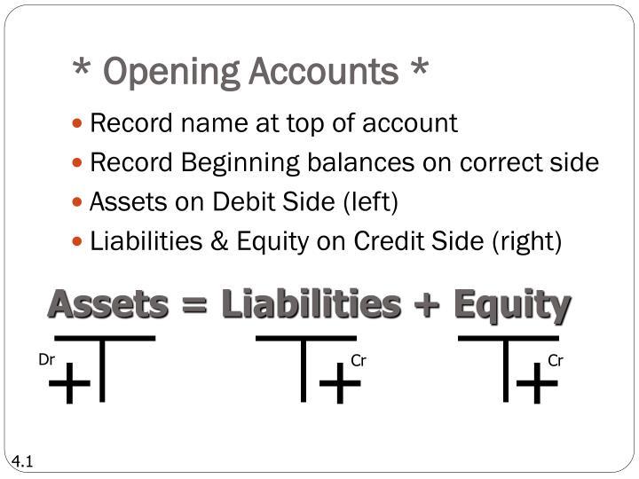 * Opening Accounts *