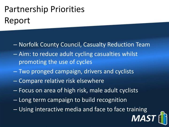 Partnership Priorities