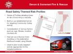road safety themed risk profiles