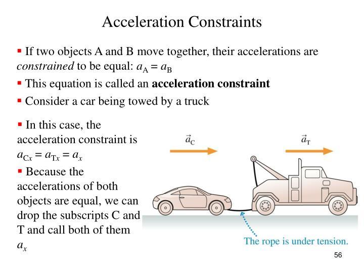 Acceleration Constraints
