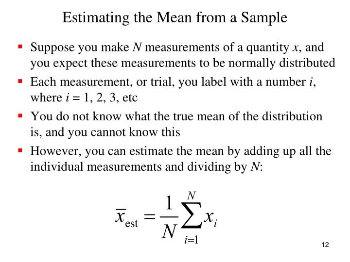 Estimating the Mean from a Sample