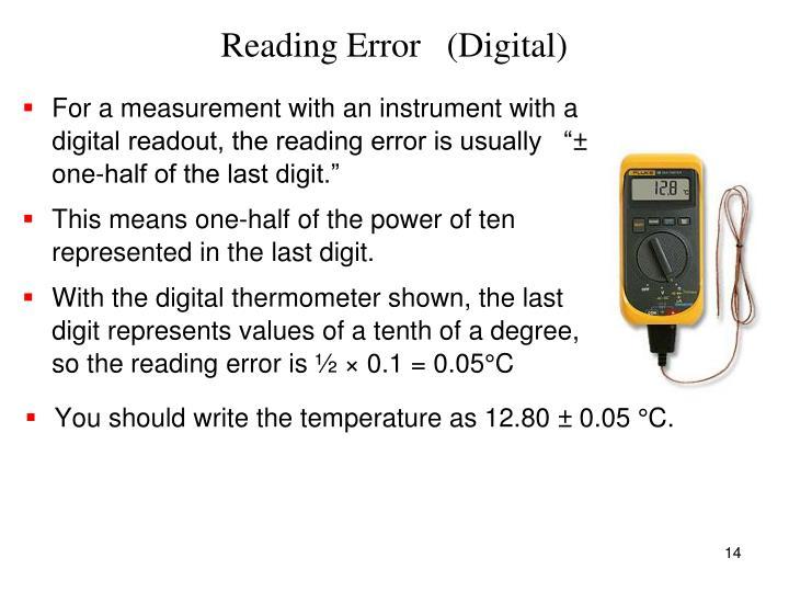 Reading Error   (Digital)