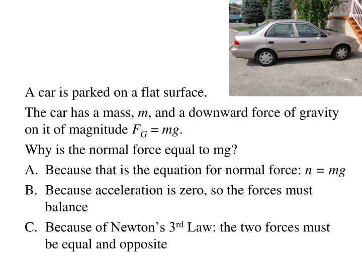 A car is parked on a flat surface.