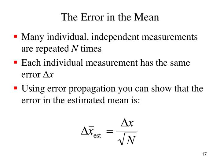 The Error in the Mean