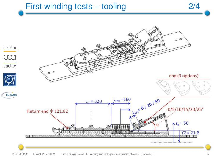 First winding tests – tooling                           2/4