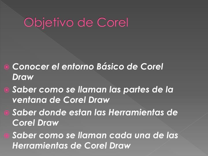 Objetivo de Corel