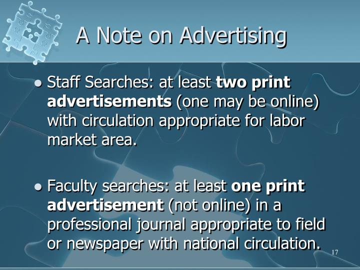 A Note on Advertising