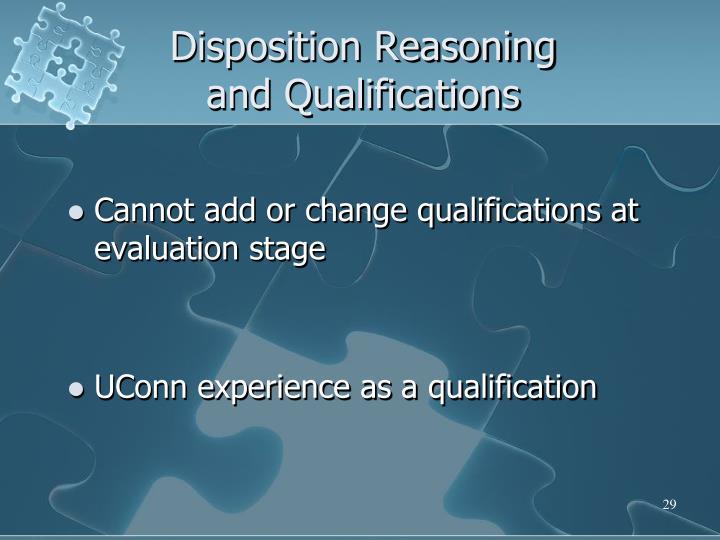 Disposition Reasoning