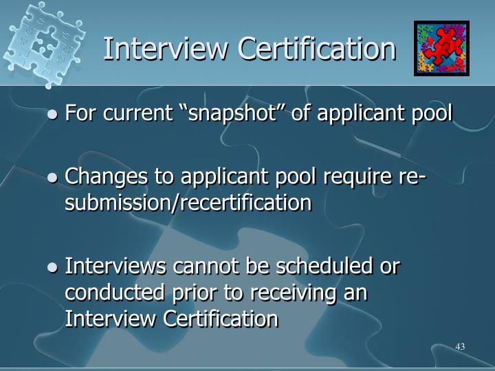 Interview Certification
